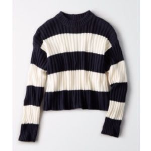 AEO Striped Knit Pullover Sweater